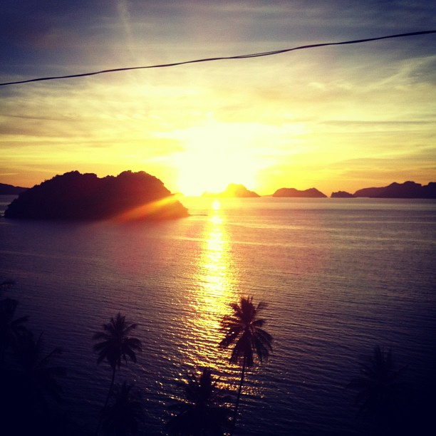 A burst of color. A last Hurrah. El Nido