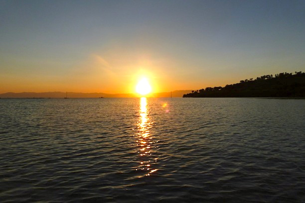 Sunset over Badian Island. Cebu
