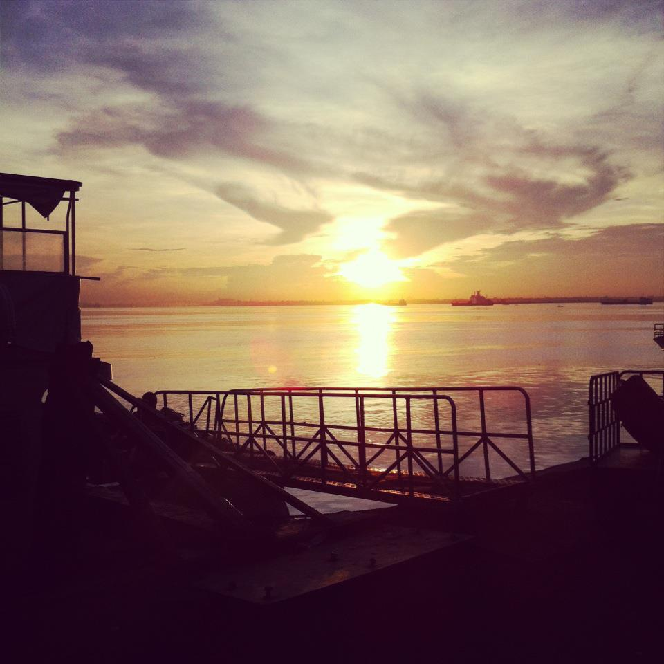 Sunrise over Cebu's Pier 1