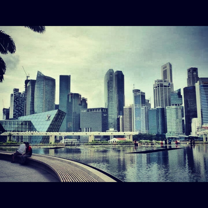Marina Bay's view of Raffles