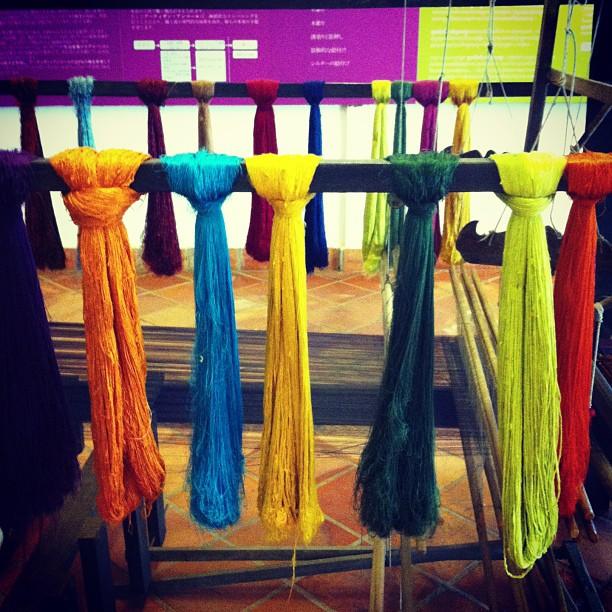 raw silk threads