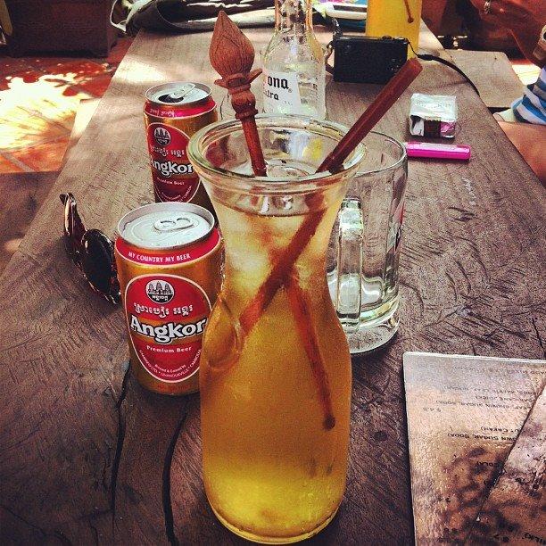 Lemongrash refresher at Asana Old Wooden House