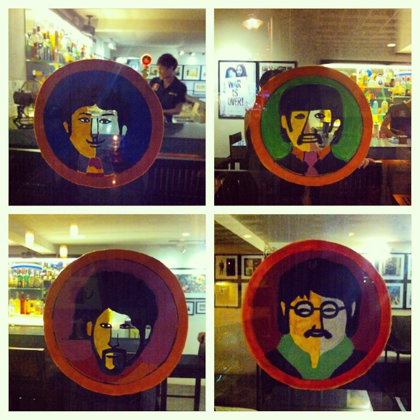 John, Paul, George and Ringo Windo Stickers @ The Yellow Sub