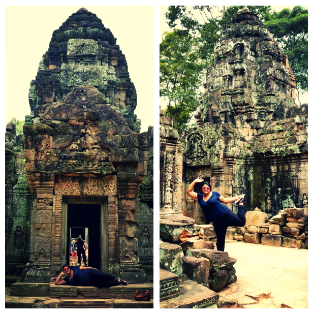 Promoting temples, one pose at a time  (Siem Reap, Cambodia)