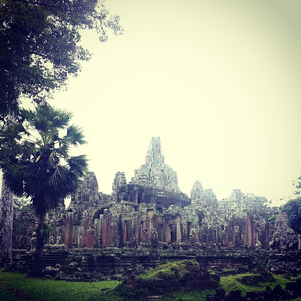 The sprawling Bayon Temple