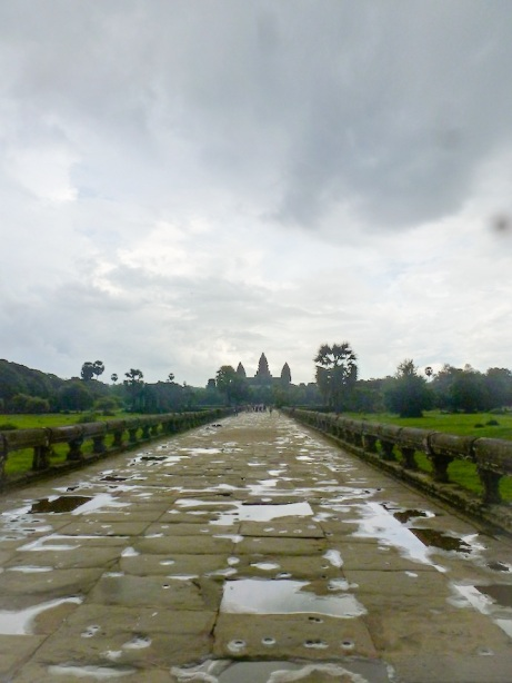 Another mile-long walk from the gate to the actual temple