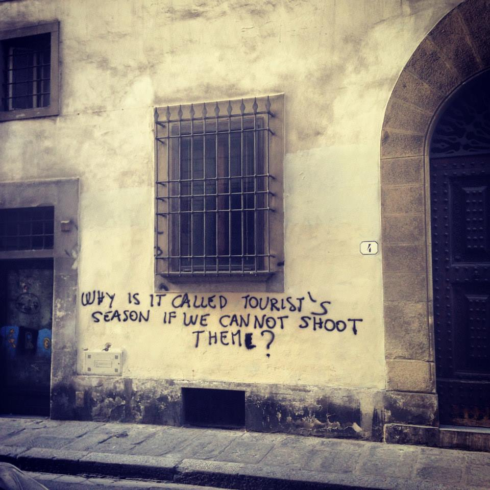 Get on the locals' good graces for the sake of your health. (Florence, Italy)