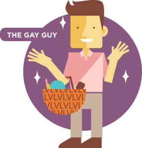 the gay guy